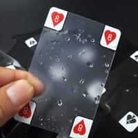 Juego de Tarjetas de plástico transparente, impermeable mágico de la tarjeta del póker del puente de Oferta Tarjetas cámara de captura Colección Jugando Tarjetas