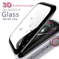 For Apple Watch 4 Full Covered Tempered Glass 3D Film Screen...