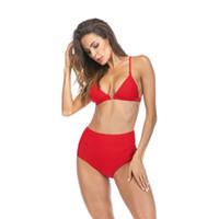 Nuovo bikini 2018 mujer costume da bagno Vita alta Donna Sport acquatici Costumi da bagno sexy biquinis feminino 2018 Bikini Costume da nuoto per donna
