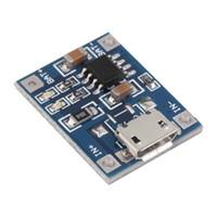 Envío gratuito 10 unids 5 V Mini MICRO USB 1A TP4056 Módulo de batería de litio Li ion Baterías Cargador Módulo de placa de cargador al por mayor