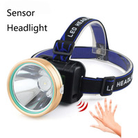USB LED Head Lamp Lámpara de inducción Sensor de cuerpo 18650 Rechargeable Outdoor Headlight LED High Light Lantern Antorcha de agua
