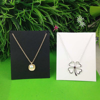 New Hot White 10X8CM Kraft Pendant Necklace Card 1lot=100 ca...