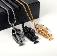 NEW Gothic Fishbone Fish SkulRetro Stainless Steel Fishbone ...