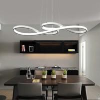 Lampadario moderno della curva delle note di musica della luce del pendente di 58W LED per il ristorante Cafe Bar