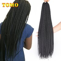 TOMO Crochet Braiding Hair Extensions Pure Ombre Brown Grey ...