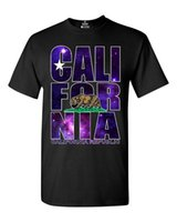 Summer Style Fashion California Republic Galaxy T- shirt Cali...
