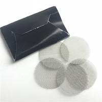 Paslanmaz çelik ekran 20mm şerit metal sigara boru ekran cam bong kase filtre ekran için 5 adet / takım