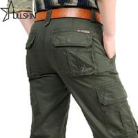 2017 Marka Erkek Moda Askeri Kargo Pantolon Çok Parçalı Baggy Erkekler Pantolon Rahat Pantolon Tulum Ordu Pantolon Joggers 2155