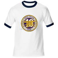 Novos Selos Da Marinha Equipe 10 Logotipo Do Selo T-Shirt Dos Homens de  Algodão 2d0190f7fbe