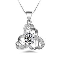 새로운 925 스털링 실버 목걸이 오스트리아 크리스탈 스톤 체인 여성 CZ 다이아몬드 펜던트 뱀 체인 여성용 패션 주얼리 액세서리