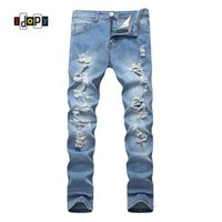 Idopy Men`s Fashion Ripped Jeans Stretchy Hip Hop Street Style Vintage Washed Brand Designer Denim Joggers For Male