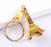 Vintage Eiffel Tower Keychain stamped Paris France Tower pen...