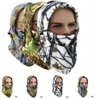 Tampas de lã multifunções camo máscaras cap inverno quente máscara facial ciclismo bonés de esqui à prova de vento bandana máscara de esqui da motocicleta snowboard capas