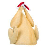 Забавный мужской Новизна Шутка Браун День благодарения Запеченная индейка Hat Фестиваль рождественскую индейку Шляпы Мультфильм Fancy Турция платье Hat