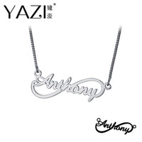 YAZI Personalized Name Necklace Gold Color Copper Infinity P...