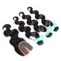 Hot Sales Body Wave Peruvian Hair With Closure Brazilian Mal...