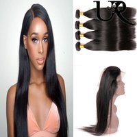 Raw Virgin Indian Straight Hair with 360 Frontal Closure Pre...