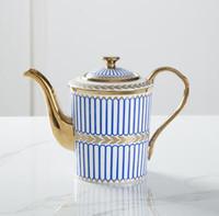 Роскошные Drinkware 14 шт. Европейский Керамический чайный сервиз фарфор кофейник кофейник кувшин чашки блюдце набор CT04
