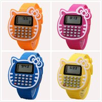 Cartoon KT LED Electronic Watch Student silicone calculator ...