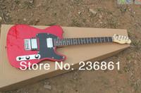 الشحن مجانا! مخصص للتسوق المذيع مزدوجة البيك اب المعادن الغيتار الكهربائي الأحمر