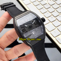 Новый 43 мм Авангард PVD черный стальной корпус V45 SC DT черный PXL Япония Miyota автоматические мужские часы дата кожаный / резиновый ремешок мужские часы