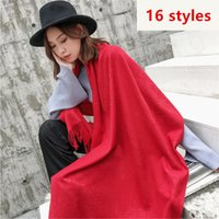 Winter Designer 2018 Fringed Solid Color Shawl Scarf For Wom...