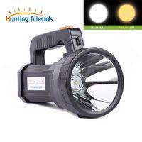 Super brillante Luz portátil USB Linterna 3 modos LED Lanterna Reflector Luz de camping Construido en 9000mA Batttery recargable