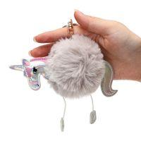 사랑스러운 자동 열쇠 고리 귀여운 Hors 자동차 열쇠 고리 장식 Baubles Keychain 동물 인형 열쇠 고리 인테리어 액세서리 봉제 Toyse