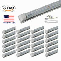 8ft водить магазин зажигает V-образный 4 фута 5 футов 6 футов светодиодных трубок Т8 Интегрированные 8FT трубы двойных бортах SMD2835 Светодиодные лампы дневного света складе в США