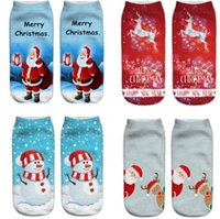 Christmas Socks Women 3D Socks 2019 New Year Gift Kawaii Cal...