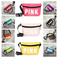 Pink Waist Fanny Pack Purse Chest Bag 13 Styles Outdoor Trav...