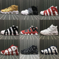 2019 Air More Uptempo Donna Casual Scarpe da uomo, alta qualità Tri-Color Scottie Pippen PE Triple Bianco Athletic Scarpe casual US5.5-13