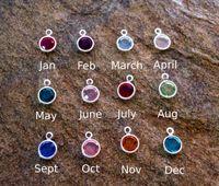 12 Stücke Ganze set Birthstone Baumeln Anhänger Charme für Personalisierte Halskette Armband Ohrring Schmuckherstellung