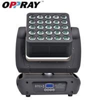 OPPRAY LED 25 matris hareketli kafa 25 adet * 10 W 4-in-1 rgbw KTV BAR CULB DISCO için yıkama sahne ışık