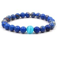 pietre naturali perline braccialetto imperatore braccialetto opalino braccialetto perline