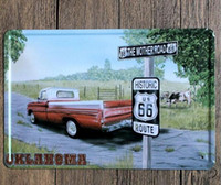 Vintage Car Carteles de chapa Arte de la pared Retro Ruta 66 TIN SIGN Pintura de Metal de Pared Vieja ARTE Bar Pub Café Restaurante Decoración Del Hogar 111