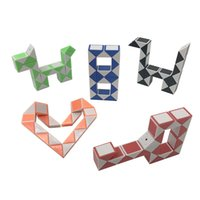 24 Paragraph Creative Magic Snake Shape Toy Game 3D Cube Puz...