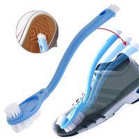 Doppel lange Griff Schuhbürste Reiniger Waschen Toilette Lavabo Topf Gerichte Hause Turnschuhe Schuh Reinigung Pinsel Werkzeuge