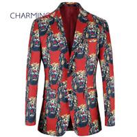 Los trajes de diseñador para las chaquetas formales de los hombres del patrón de León ropa de caballero casual caliente trajes de hombres jóvenes