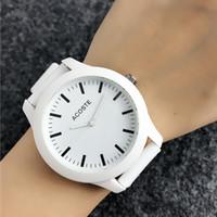 Cocodrilo de la marca relojes de pulsera de cuarzo para las mujeres de los hombres unisex con estilo Animal Dial correa de silicona LA06