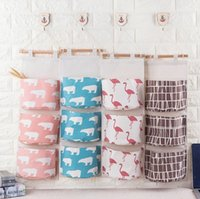 Wall Hanging Organizer Bags Cotton Linen Holder Storage Bag ...