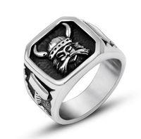 anelli gioielli in acciaio per gli uomini Tianium scheletro raffreddano anelli aperti di modo punk caldo libero di trasporto