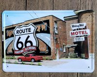 Vintage Car Carteles de chapa Arte de la pared Retro Ruta 66 TIN SIGN Pintura de Metal de Pared Vieja ARTE Bar Pub Café Restaurante Decoración Del Hogar