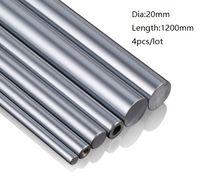 4 шт./лот 20x1200 мм Диаметр 20 мм линейный вал 1200 мм долго закаленный вал подшипник хромированный стальной стержень бар для 3D принтер частей cnc маршрутизатор