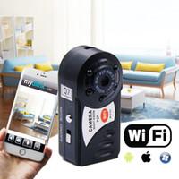HD720P Q7 Mini Câmera Wifi Visão Noturna Infravermelha Pequena Câmera DV DVR Câmera IP Sem Fio Filmadora De Vídeo Gravador de Suporte Cartão TF