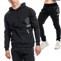 db507379664b Männer Kleidung Set Sportswear 2018 Herbst neue Hoodies Sweatshirts  Sporting Sets Herren Trainingsanzüge zwei Stück Hoodies