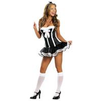 الجملة جنسي الملابس الداخلية ملابس داخلية جميلة الإناث خادمة الكلاسيكية الدانتيل تنورة قصيرة لوليتا خادمة الزي مثير زي