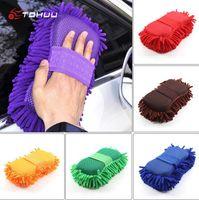Super Car Wash Handschoen Auto Hand Zachte Handdoek Microfiber Chenille Cleaning Spons Block Auto Wasvoorzieningen
