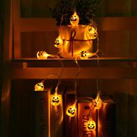 크리스마스 휴일 LED 문자열 LED 스트립 LED가 호박 문자열 조명 할로윈 장식 상점 샵 창문에 대한 전원