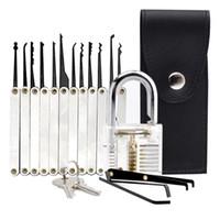 Escolhas bloqueio Set profissionais transparentes Ferramentas Cutaway Prática cadeado Com serralheiro para Bloqueio Escolha Formação de Formadores Practice